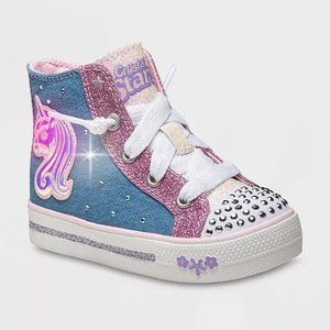Skechers女小童休闲鞋,鞋面可亮灯